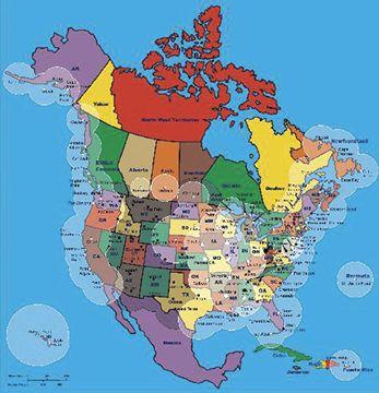 north america coast guard map