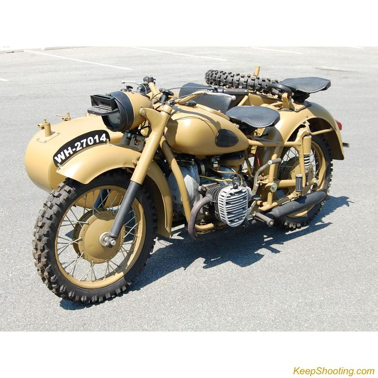 Desert Motorcycle And Sidecar