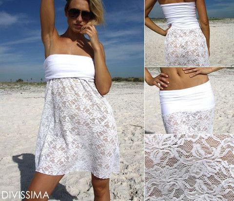 New lace Beachwear. You could have 3 solutions in just 1 Dress: Long Dress, Mini Dress and Tube Skirt. Sexy Beachwear made of soft lace fabric. Visit http://onlineclothingshop.co.za for more.