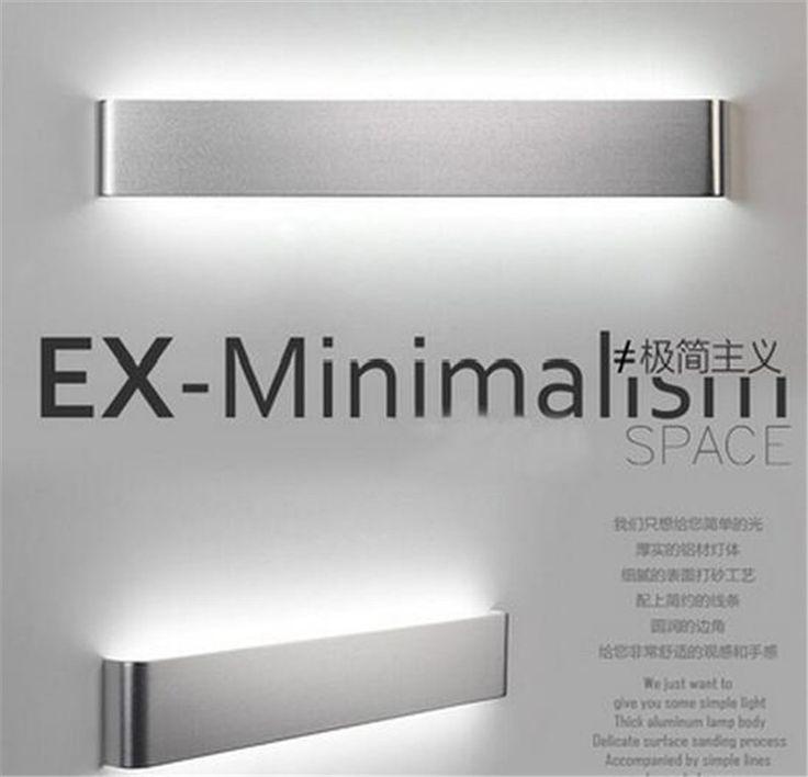 modern minimalism aluminum 36/48/58cm led wall lamp for bedroom  waterproof led mirror lights for bathroom AC 90-265V A041