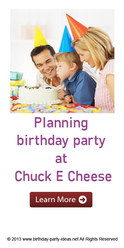 The most important part of planning a Chuck E. Cheese birthday party on a budget is to make sure you ask a lot of questions of the staff ahead of time to see what your options are. There are often hidden packages, deals and special discounts you can get you just have to ask in advance.