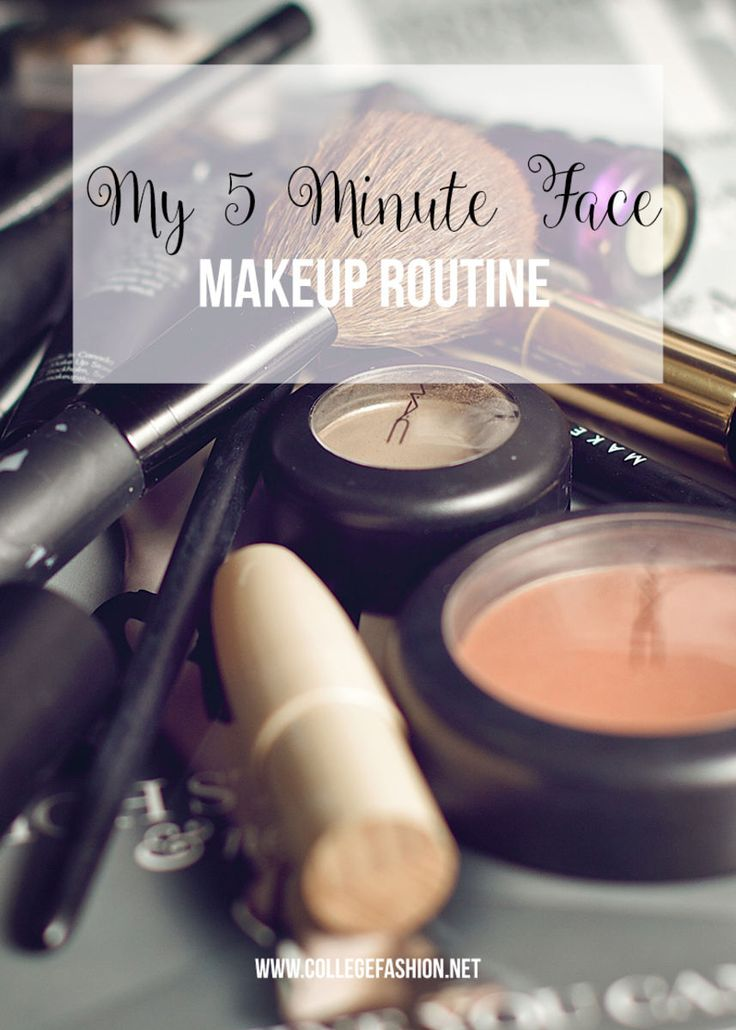 Learn how to do your makeup in 5 minutes with our easy and quick makeup routine for when you're running late.