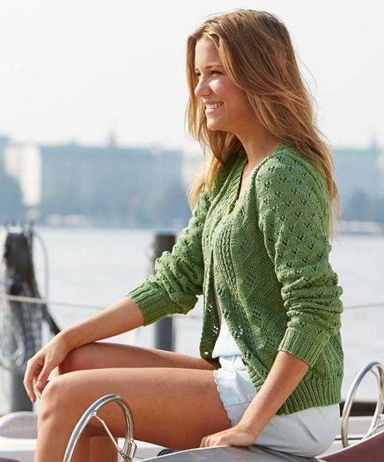 This Breezy Lace Cardigan is the perfect piece of summer attire. We love patterns like this here, because it always seems like there's just never enough to knit in the warmer months! The intricate lace details make this an advanced project, and more suited to experienced knitters.