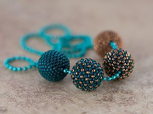 Beaded bead | tutorial