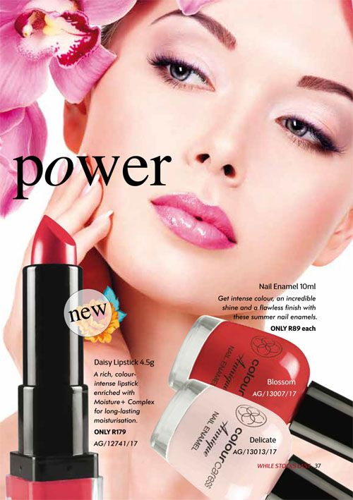 Annique September 2017 Beauté Daisy Lipstick & Blossom & Delicate Nail Polish Purchase any of these months awesome #Annique #Specials from our online store AND earn rewards while you're there. #rooibosmiracle  https://rooibos-miracle.co.za/store/