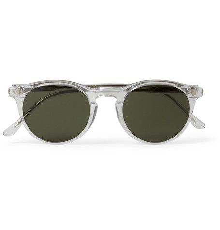 oliver spencer sid round frame acetate sunglasses add a retro inspired feel to your look with oliver spencers sid sunglasses the clear acetate