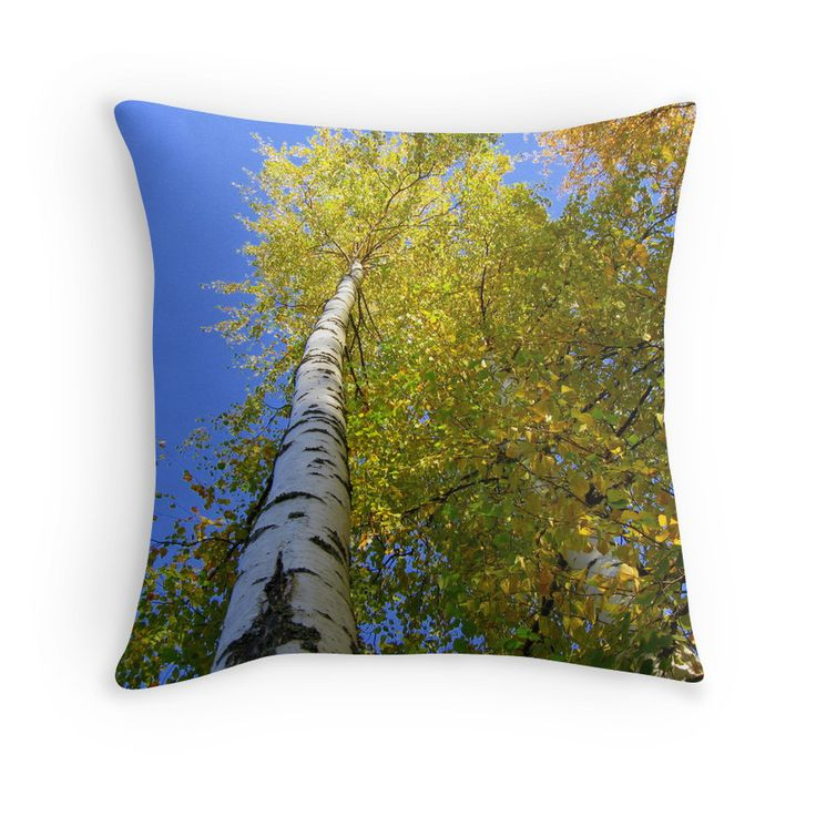 Toward The Blue Sky Throw pillow