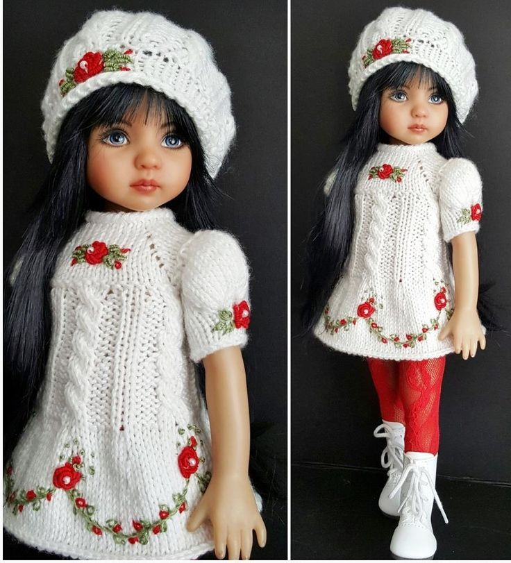 """DRESS,BERET,BOOTS SET MADE FOR EFFNER LITTLE DARLING 13"""",MY MEADOW DOLLS #Unbranded"""