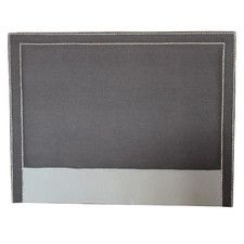 Dark grey suede headboard