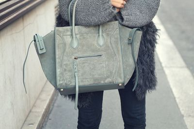 teal suede #bag :: Phantom by #Celine | love to carry | Pinterest ...