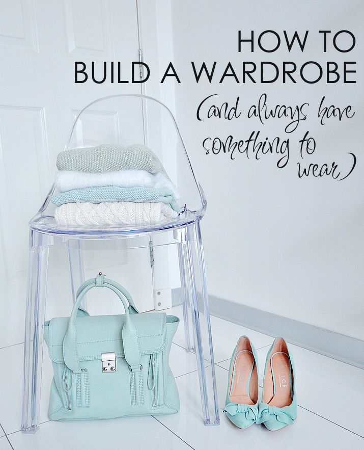 how to build a wardrobe that works and always have something to wear: I got really tired of having a closet crammed full of clothes, but always feeling like I had nothing to wear. This is how I managed to pare down my wardrobe, define my style and make sure I always have something to wear, no matter what I'm doing. (Clue: fewer prom dresses, more high-quality basics...)