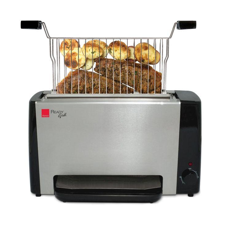 Ronco Grill is een grill waarmee je meerdere maaltijden tegelijk kan grillen. Grill een zalm en asperges in een keer of kipfilet met groenten. Ronco grill produceert geen rook, daarom is het ideaal voor in de kleine keukens. Ronco Grill is ook geschikt om diepvriesproducten te grillen.
