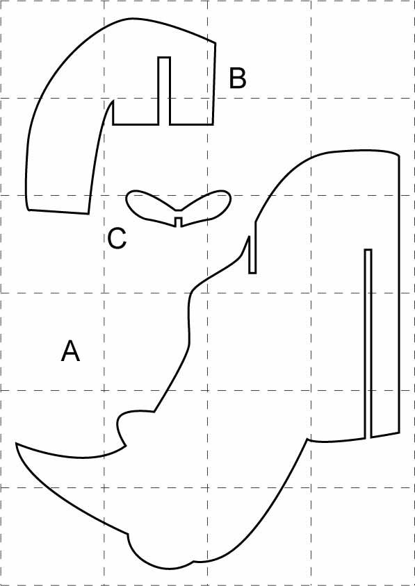 Descarga plantillas de cabezas de animales buscar con for Muebles de carton pdf