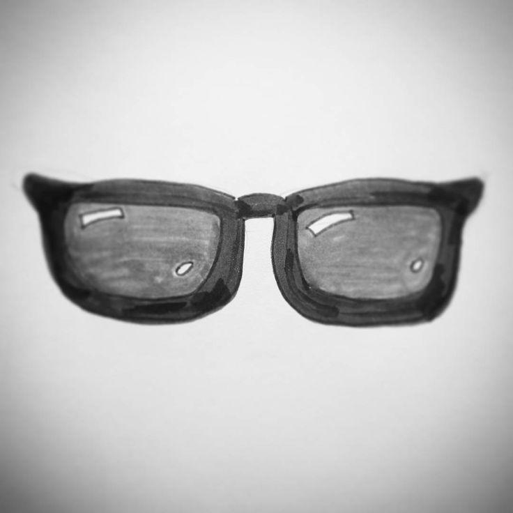 .  [ES] Gafas. Lentes de sol.  .  [EN] Sunglasses. 😎  .  #letterswithbarb #doodlechallenge #tombow