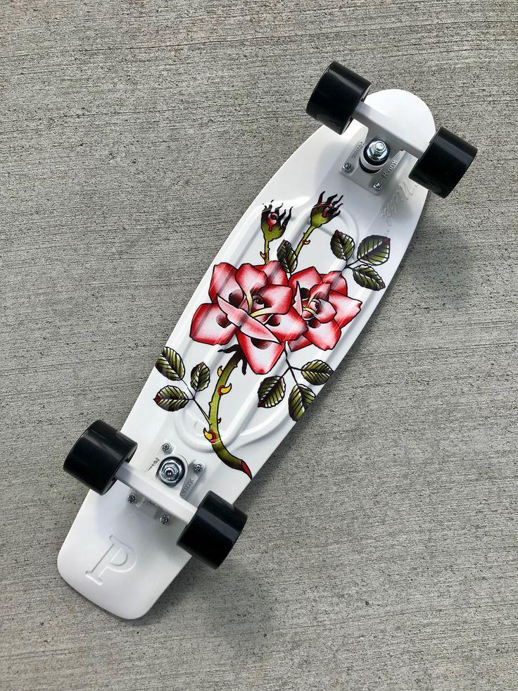 Penny nickel rosebud 27 cruiser complete skateboard