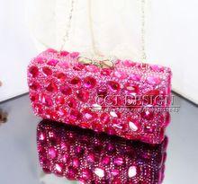 Freies verschiffen rosa kristall diamant hochzeit braut taschen handmade customized kristalle tag kupplung taschen abend partytüten //Price: $US $134.40 & FREE Shipping //     #clknetwork