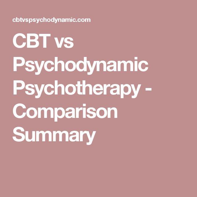 CBT vs Psychodynamic Psychotherapy - Comparison Summary