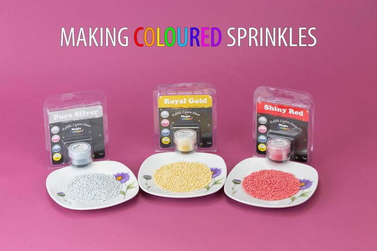 Making Coloured Sprinkles with Magic Colours