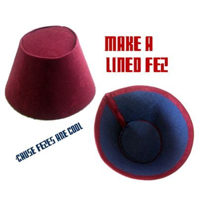 How to make a fez for Doctor Who cosplay