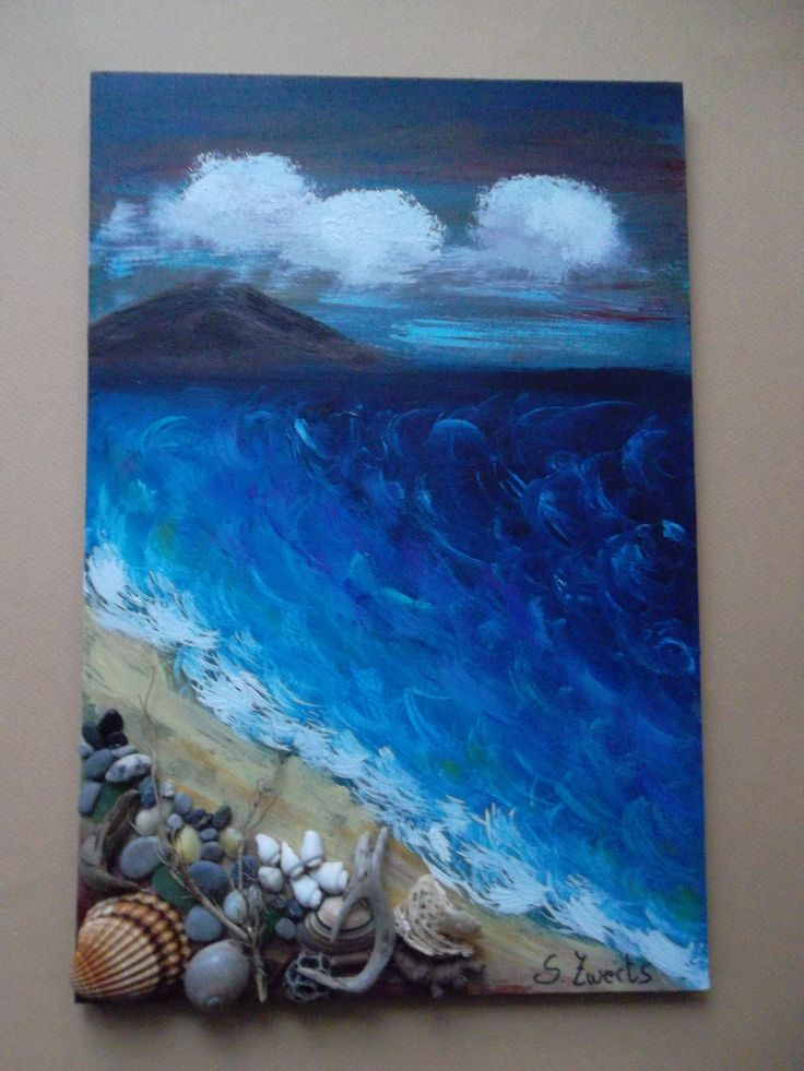 61 best images about beach art on pinterest sailing boat for Shell art and craft