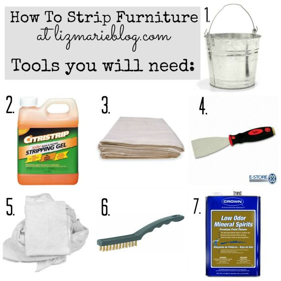 """how to strip painted furniture: A complete list of all the tools you will need, a full tutorial, & before and after photos of the process. A must """"pin"""" if you ever plan on stripping painted furniture!"""