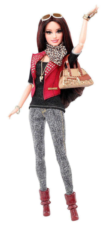 style barbie raquelle cuir rouge jeux et. Black Bedroom Furniture Sets. Home Design Ideas
