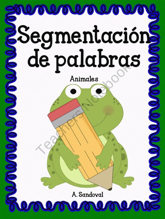 Segmentation of Words in Spanish product from Angelica Sandoval on TeachersNotebook.com