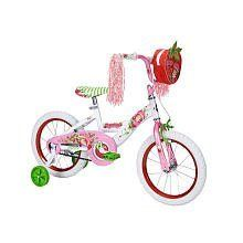 Huffy 16 inch Bike - Girls - Strawberry Shortcake by Huffy. $108.42. The real scent of strawberries! The Huffy 16 inch Bike - Girls - Strawberry Shortcake features a scented handlebar bag that will make you feel like you are riding your bike with Strawberry Shortcake! The scented bag also includes decals! You'll find the strawberries of all sizes on the bike, just like in the world of Berry Bitty City. The Huffy 16 inch Bike - Girls - Strawberry Shortcake has a comb...