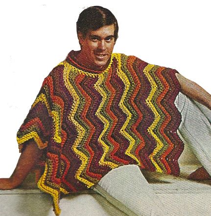 Knitting Pattern For Mens Poncho : 1000+ images about Crochet Patterns for Men on Pinterest Vests, Double brea...