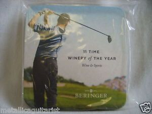 (10) BERINGER WINE  PGA GOLF TOUR  PROMOTIONAL CARDBOARD DRINK COASTERS NEW