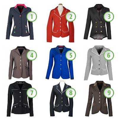 welk rijjasje is jouw favoriet? http://www.horsecheck.nl/wedstrijdjasje