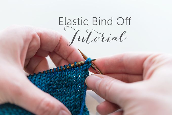 Elastic Bind Off Tutorial by Sweet Georgia Yarns -dead easy, and not much different than a typical BO, trying this for my next cowl!