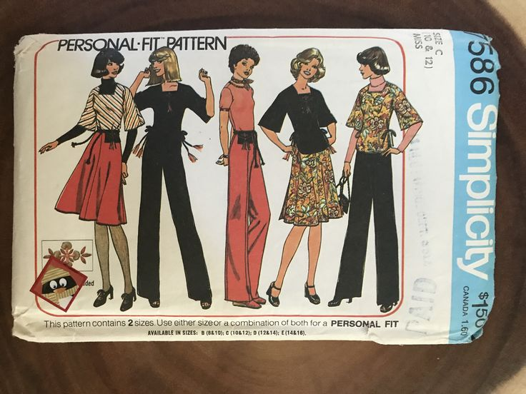 Excited to share the latest addition to my #etsy shop: Simplicity 7586 vintage women Misses Pullover Top, Back-wrap skirt, pants and bag 1976 sewing pattern uncut Size 10 & 12 disco dancing, fun http://etsy.me/2D3aPcN #supplies #sewing #women #chic #retro #vintage #pat