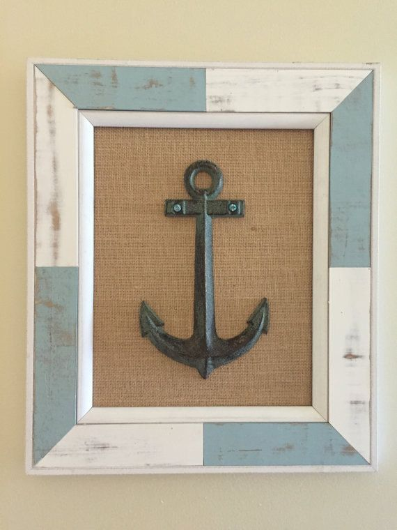 Wooden Anchor Picture Nautical Anchor Hand by belladonnasattic