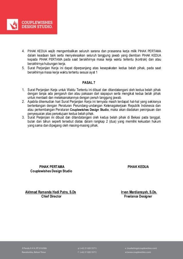Contoh Surat Kontrak Kerja Konstruksi Download Powerpoint