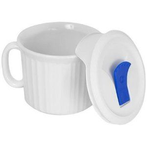CorningWare French White 20-Ounce Mug This non-porous mug is great for reheating your food at the office. It does not absorb food odors, flavors, or stains. http://theceramicchefknives.com/ceramic-mug-lid/ 12-Ounce, 12-Ounce Eco Travel Mug, Black, Blue, Cafe Mocha Vodka Insulated Travel Mug, Ceramic Mug With Lid,