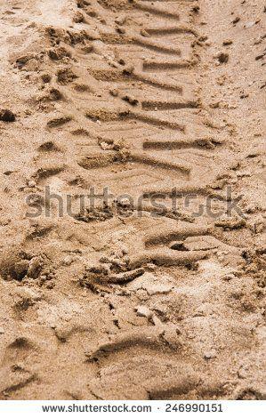Tread Pattern on the Sand