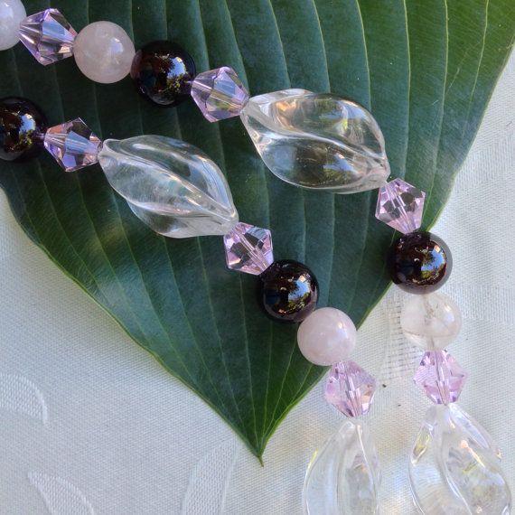 Necklace of Semi-Precious Stones  Spiral by BluePearEmporium