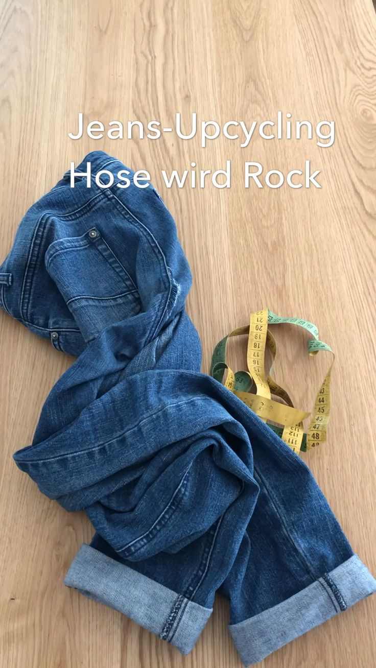 JEANS Upcycling | Hose wird Rock
