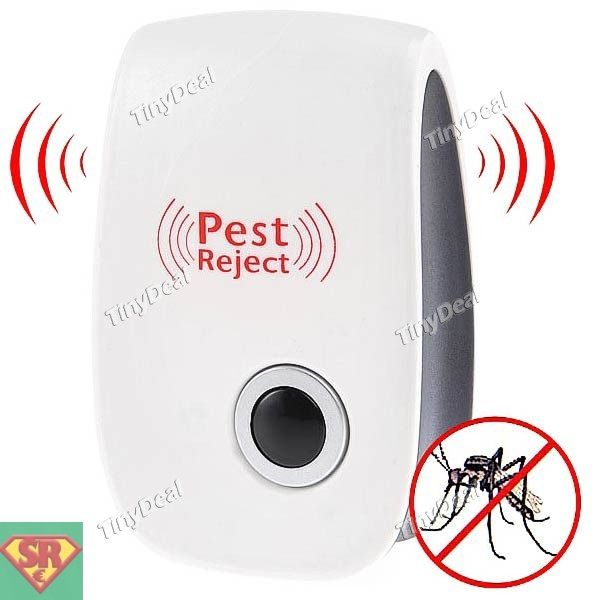Pest Reject Electronic Ultrasonic Mosquito Repeller Pest Repell Gadget with US Plug for Household VISTO IN TV