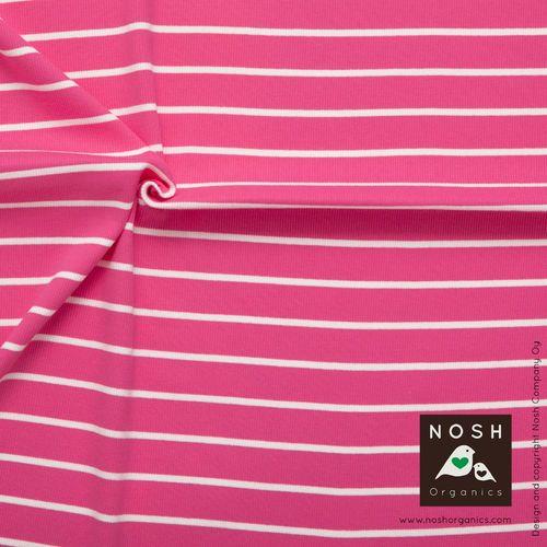 NOSH 2*1 Rib, Pink. Organic cotton.