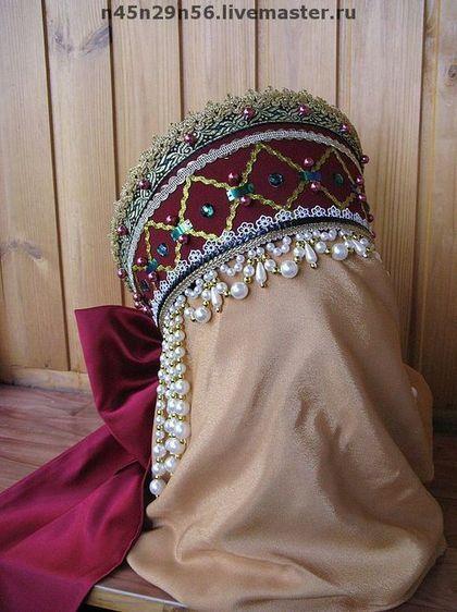 Одежда ручной работы. кокошник фольклорный модель 12. Nina Yudinа. Ярмарка Мастеров. Русский народный костюм, для хора
