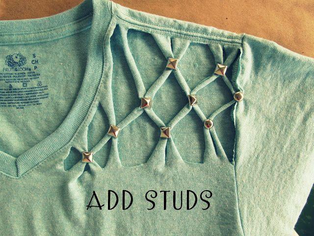No Sew, Lattice, Stud t-shirt love!