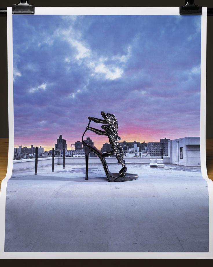 Magic hour in the city. When the sun sets, the CRUEL—a #GiuseppeZanotti icon— #GZFW17