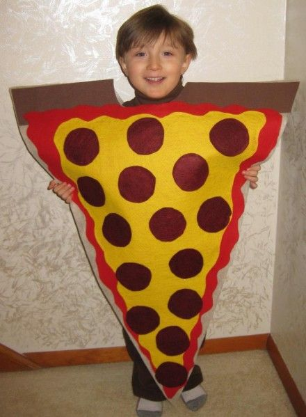 pizza slice felt costume: