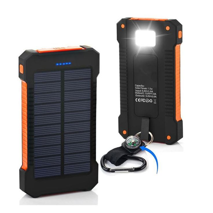 Waterproof Solar Powered Phone Charger With LED Lights - Pacific Coast Outlet