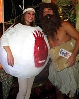 Castaway Couple Halloween Costume [i could probably get john to grow his beard out this long, lmao]
