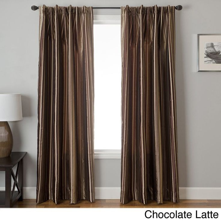Softline Elton Jacquard Back Tab Curtain Panel