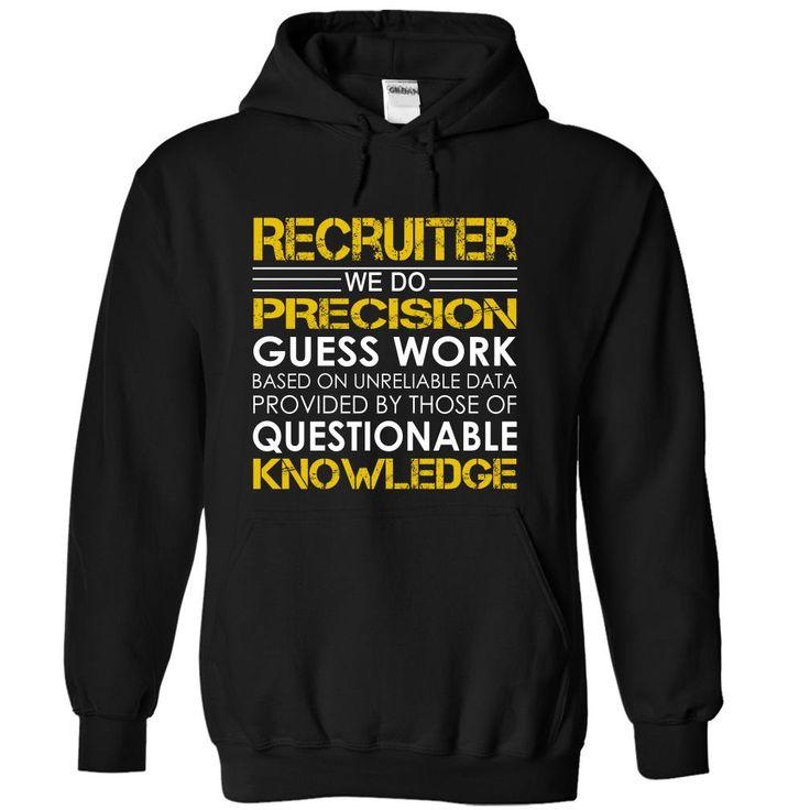Recruiter Job Title T-Shirts, Hoodies. SHOPPING NOW ==► https://www.sunfrog.com/Jobs/Recruiter-Job-Title-yqhbytzscr-Black-Hoodie.html?id=41382