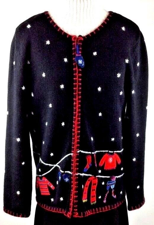 Details about Coldwater Creek Women\u0027s Christmas Sweater Size Size XS